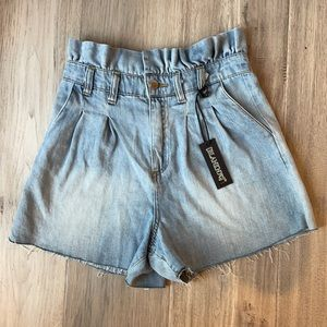 NWT Blank NYC Paper Bag High Rise Shorts - Size 27